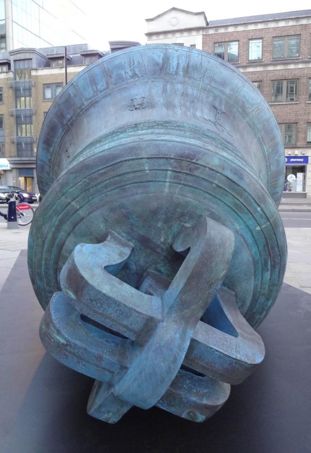 London Sculpture in the City 2015 Bells II Kris Martin, 99 Bishopgate, end